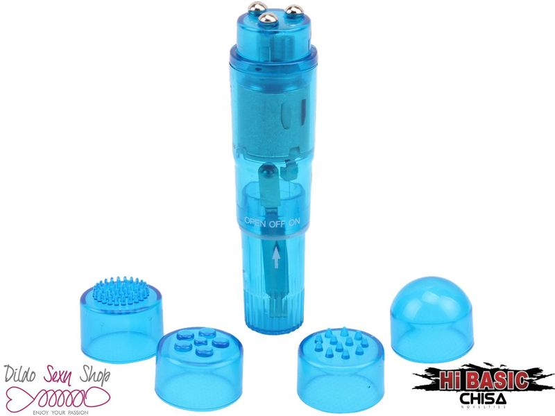 Massaggiatore Chisa Stimolatore Vaginale Clitorideo Multitestina Blue