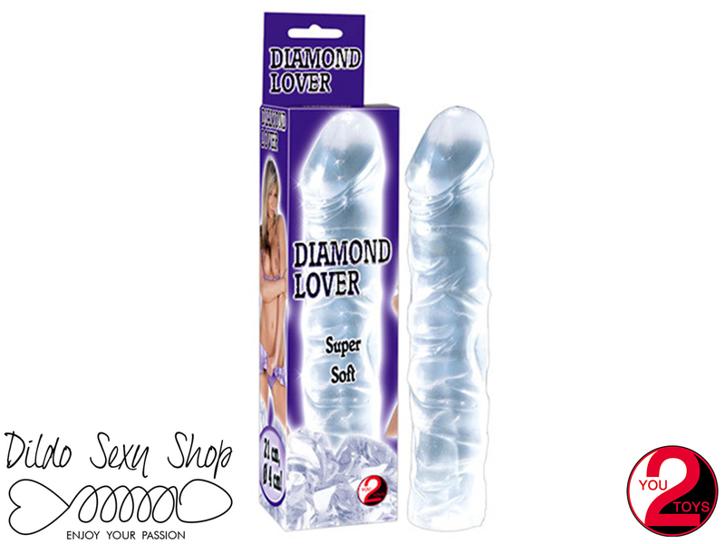 Dildo Fallo Jelly Realistico Penetrazione Stimolatore Vaginale Anale Diamond