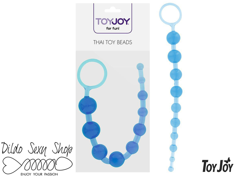 Catena Stimolatore Anale Palline ToyJoy Thai Toy Beads Pvc Blue 30 cm